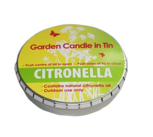 Garden Citronella Candle In A Tin