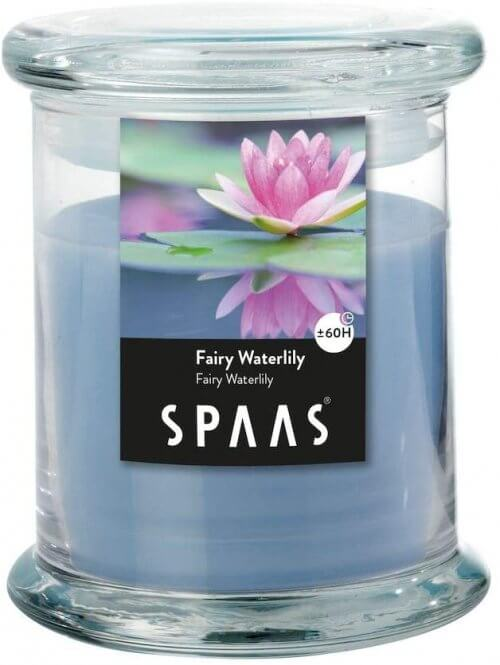 Scented Candle in Household Jar, ± 60 Hours, Fairy Waterlily