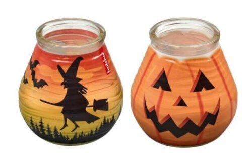 Bats Witches Pumpkin Halloween Candles
