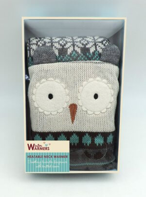 Microwaveable Owl Neck Warmer