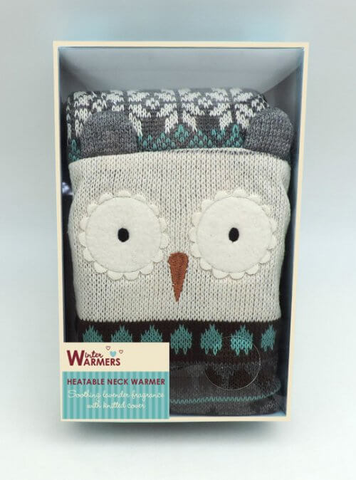 Microwaveable Owl Neck Warmer