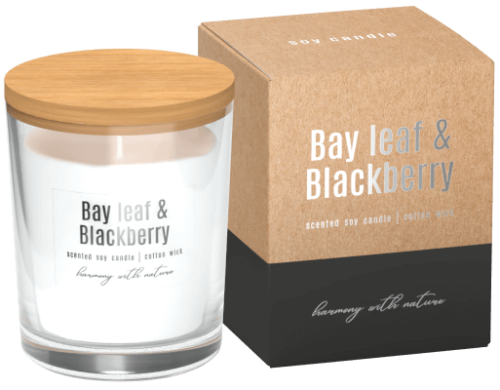 Soy Scented Candle Bay Leaf & Blackberry