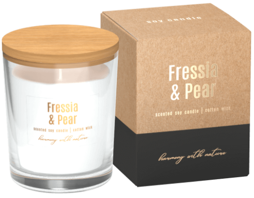 Soy Scented Candle Fressia & Pear