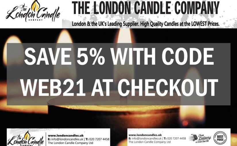London Candle Company Save 5% 2021