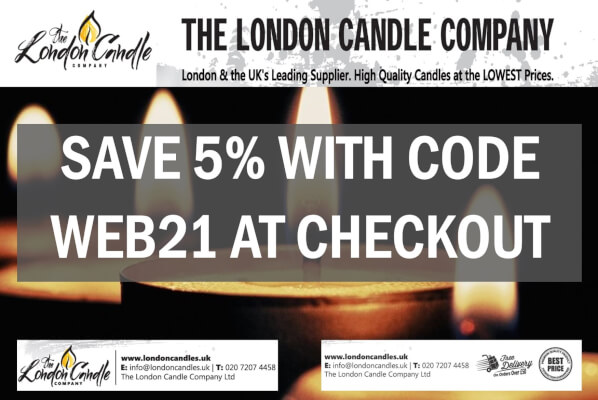 London Candle Company Save 5% 2021