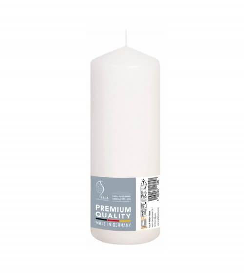 Wedding Pillar Candles In White 70mm x 200mm (Case 12)