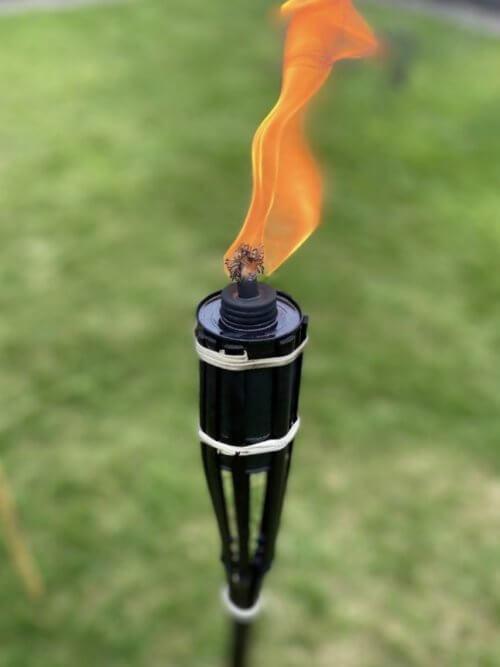 Bamboo Tiki Torch Black