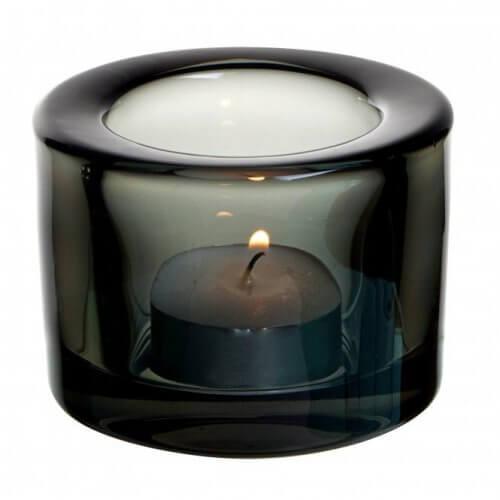 UTOPIA Chunky Tea Light Holder BLACK